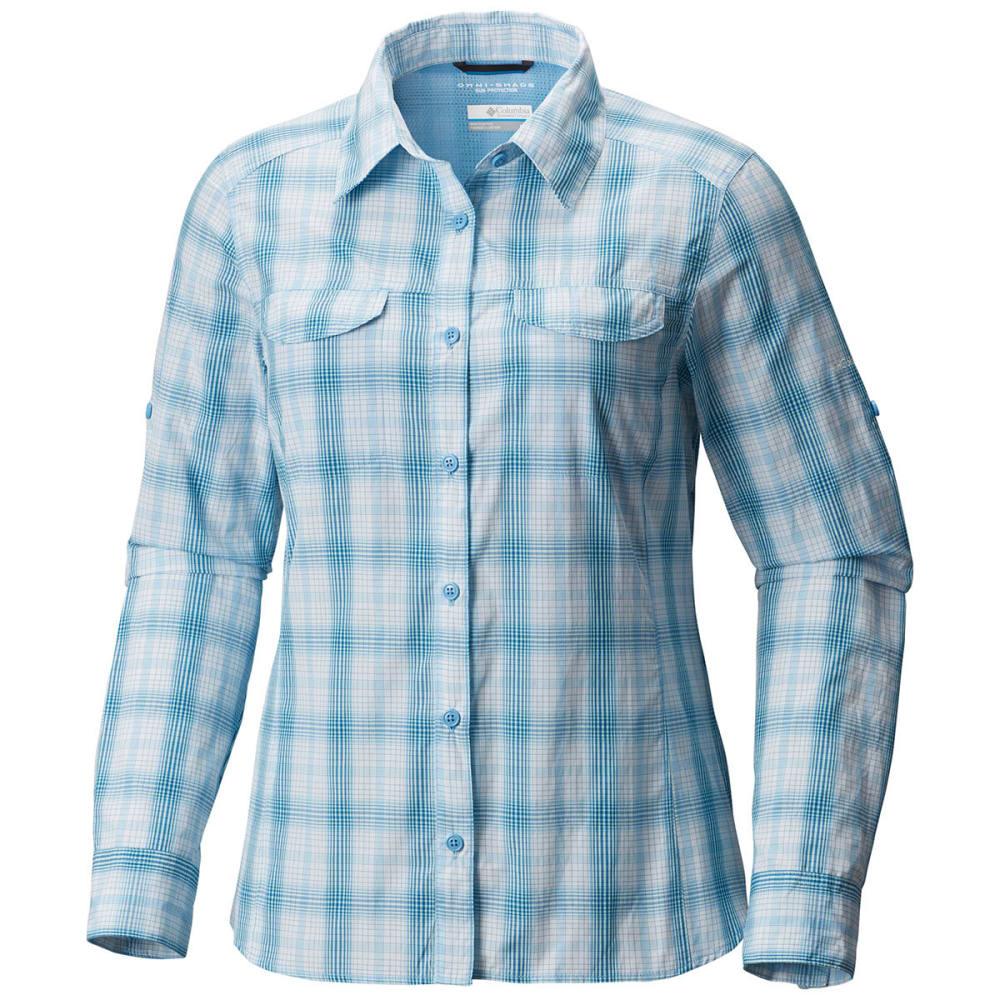 COLUMBIA Women's Silver Ridge Lite Plaid Long-Sleeve Shirt - 989-BLUE SKY PLAID