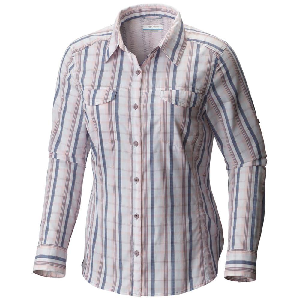 COLUMBIA Women's Silver Ridge Lite Plaid Long-Sleeve Shirt - 615-WHITENED PINK