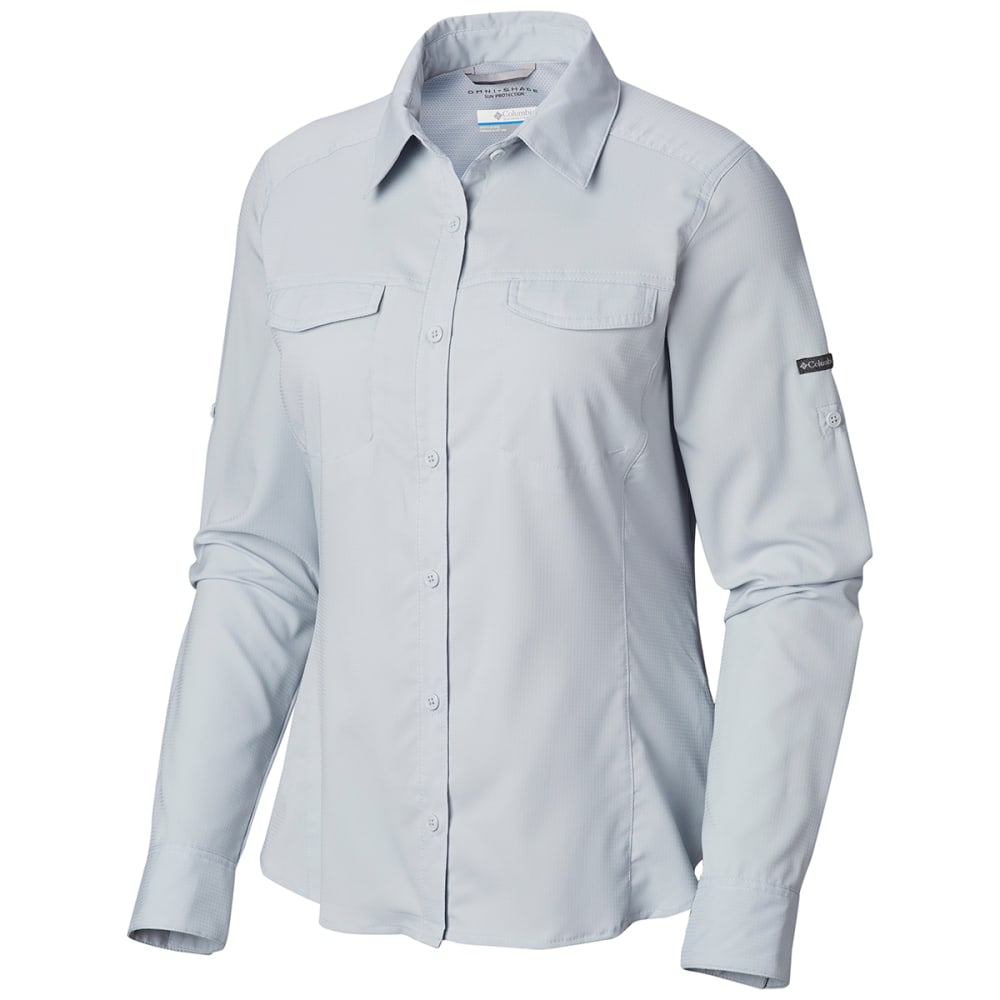 COLUMBIA Women's Silver Ridge Lite Long-Sleeve Shirt - 031-CITRUS GREY