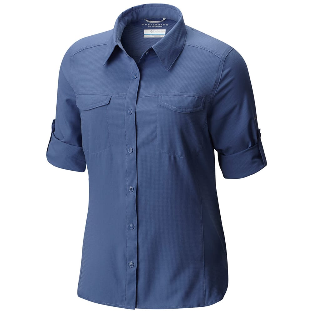 COLUMBIA Women's Silver Ridge Lite Long-Sleeve Shirt - 508-BLUEBELL