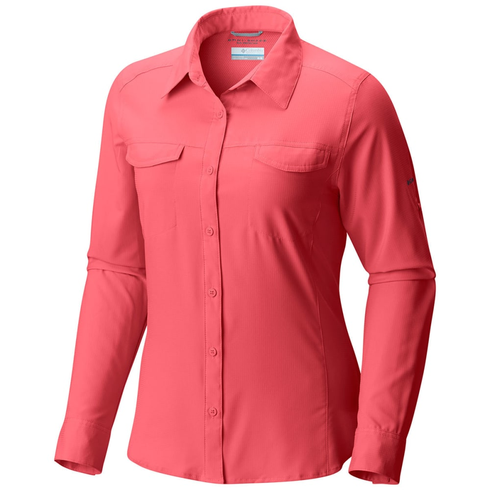 COLUMBIA Women's Silver Ridge Lite Long-Sleeve Shirt - 615-BLUSH PINK