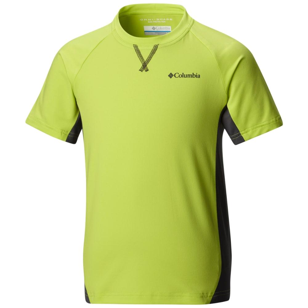 COLUMBIA Boys' Silver Ridge Short-Sleeve  Shirt - 992-VOLTAGE/SHARK