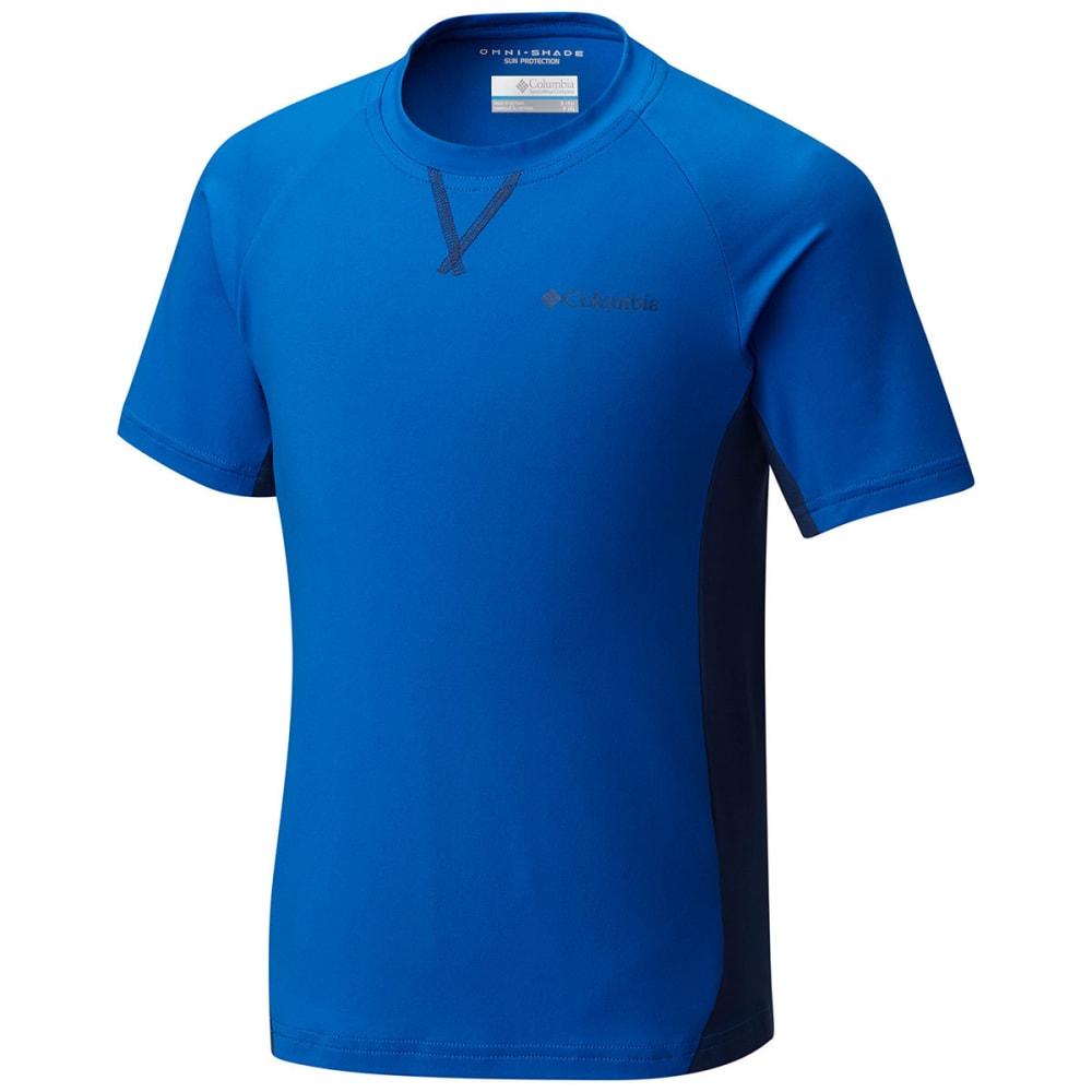 COLUMBIA Boys' Silver Ridge Short-Sleeve  Shirt - 439-SUPER BLUE/CARBN