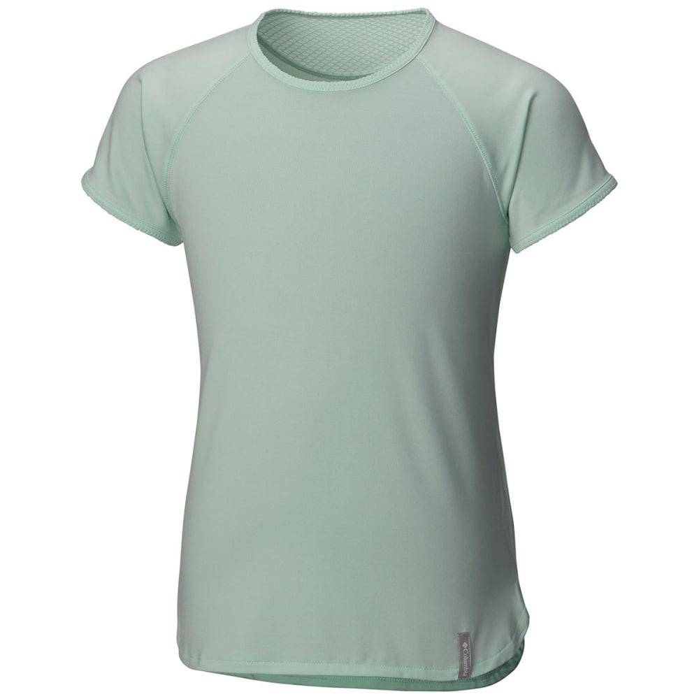 COLUMBIA Girls' Athena Short-Sleeve  Shirt - 907-SEA ICE