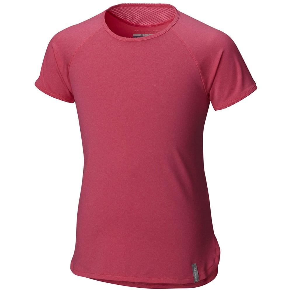 COLUMBIA Girls' Athena Short-Sleeve  Shirt - 643-WILD GERANIUM