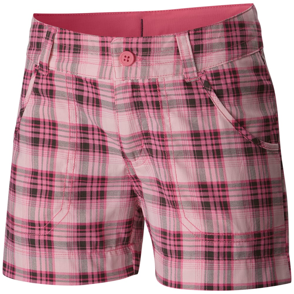 COLUMBIA Girls' Silver Ridge Printed Shorts - 643-WILD GERAN PLAID