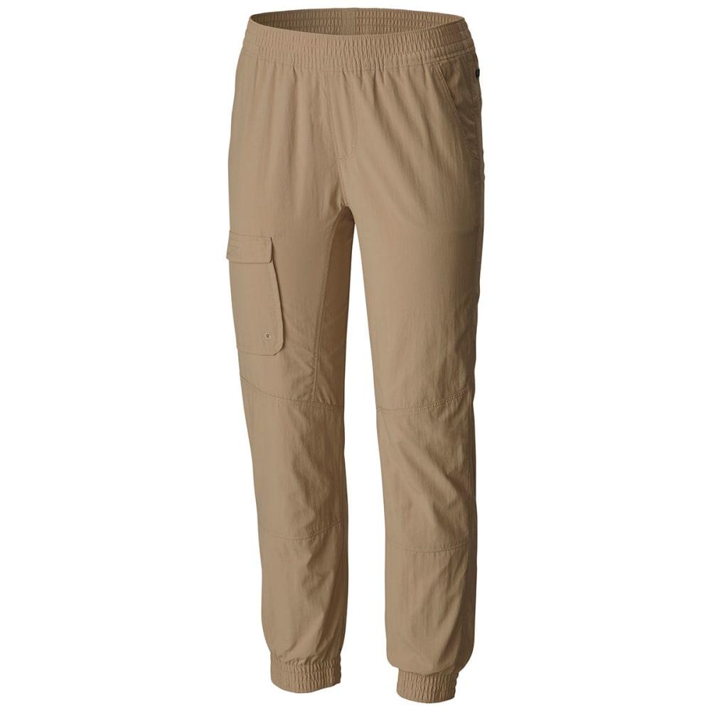 COLUMBIA Girls' Silver Ridge Pull-On Banded Pants - 265-BRITISH TAN