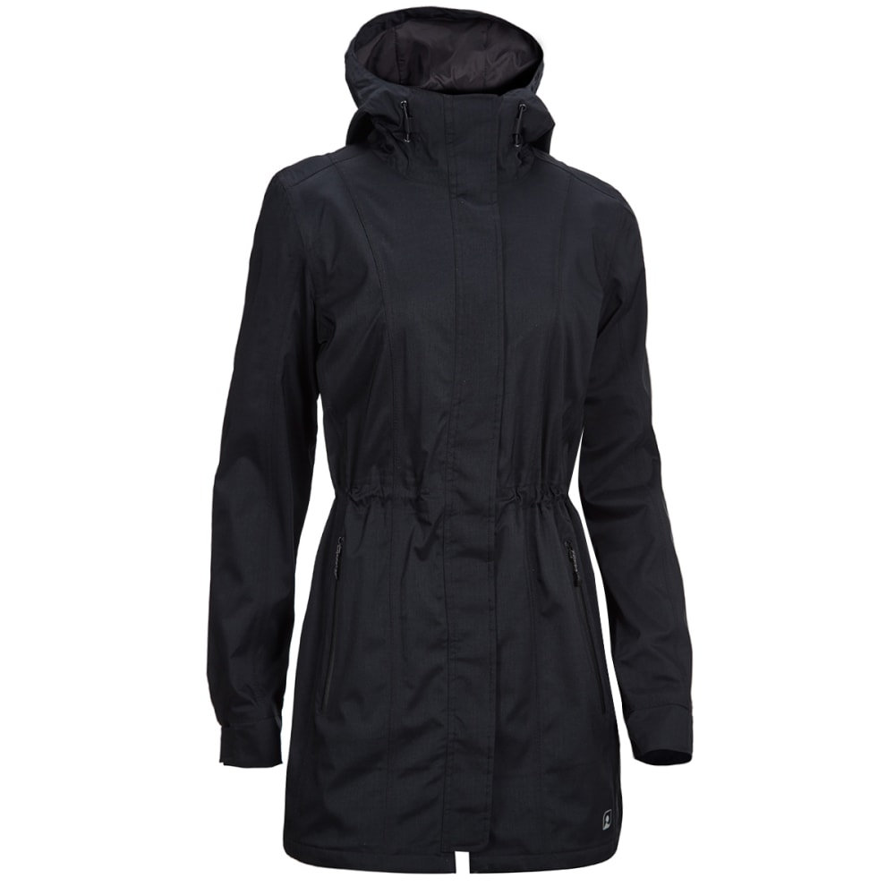 EMS® Women's Mist Rain Trench Coat - BLACK