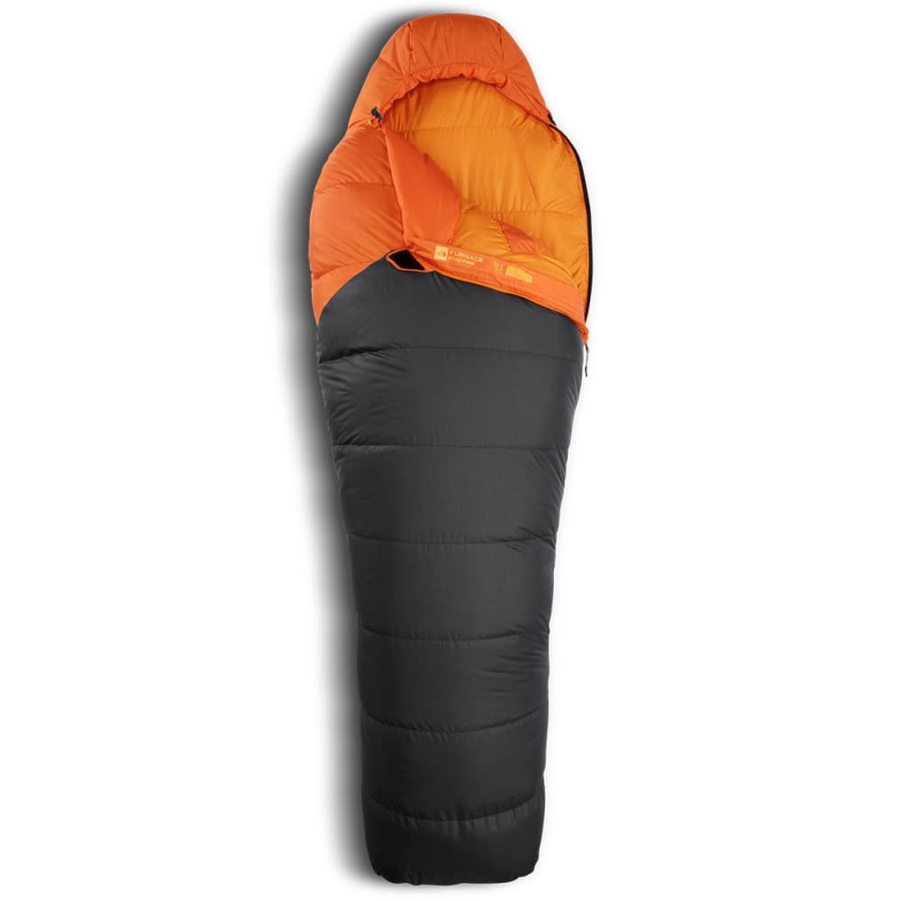 THE NORTH FACE Furnace 35 Sleeping Bag, Long - MONARCH ORANGE/GREY