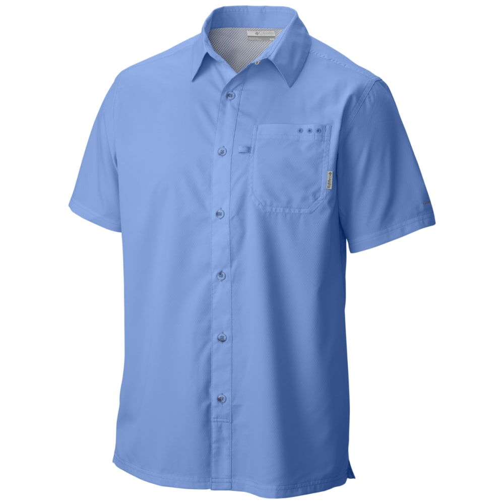 COLUMBIA Men's PFG Slack Tide Camp Shirt - WHITE CAP-450