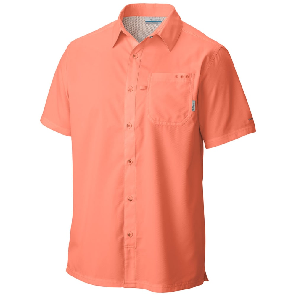 COLUMBIA Men's PFG Slack Tide Camp Shirt - BRIGHT PEACH-801