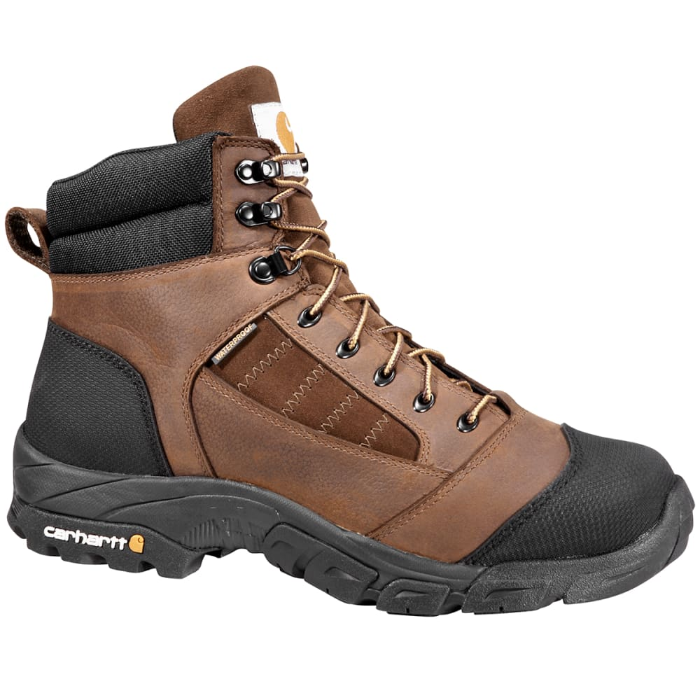 CARHARTT Men's Lightweight Waterproof Work Hiking Boots - BISON BROWN OIL TAN