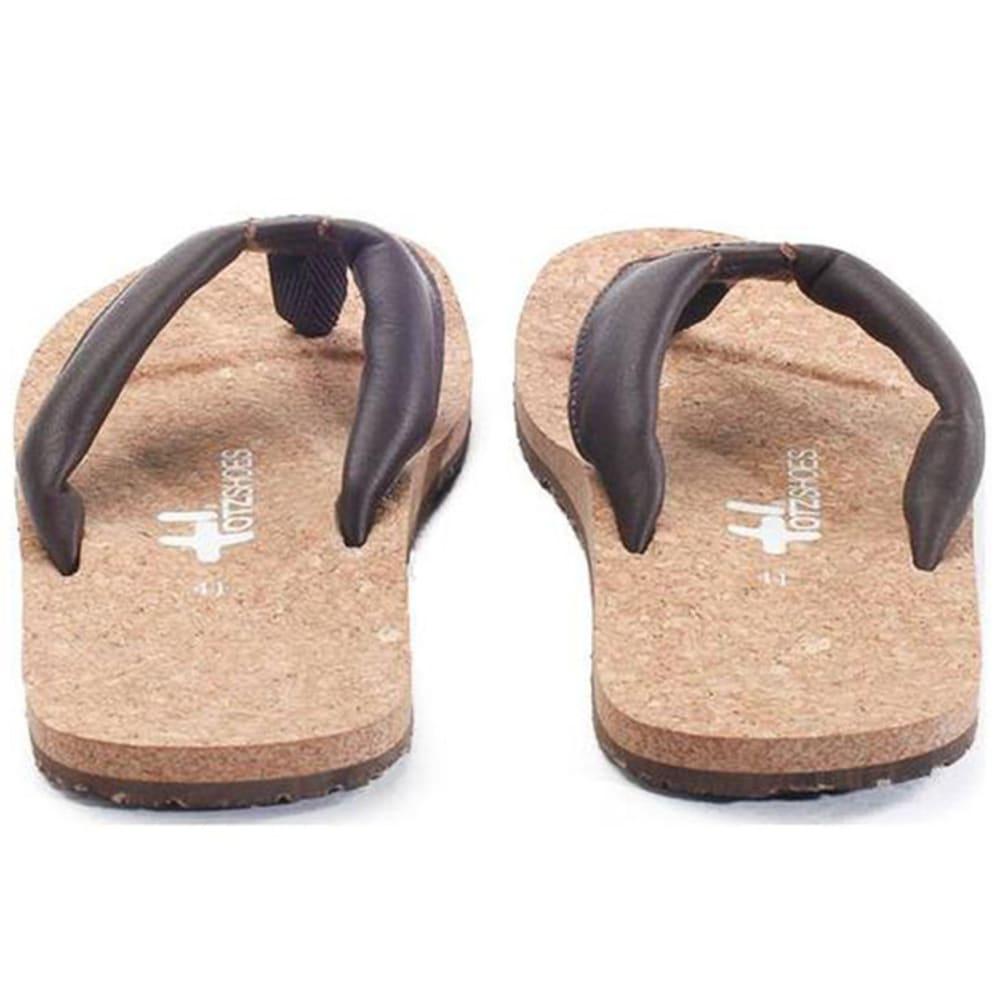 OTZ SHOES Men's Geta Leather Sandals - BROWN