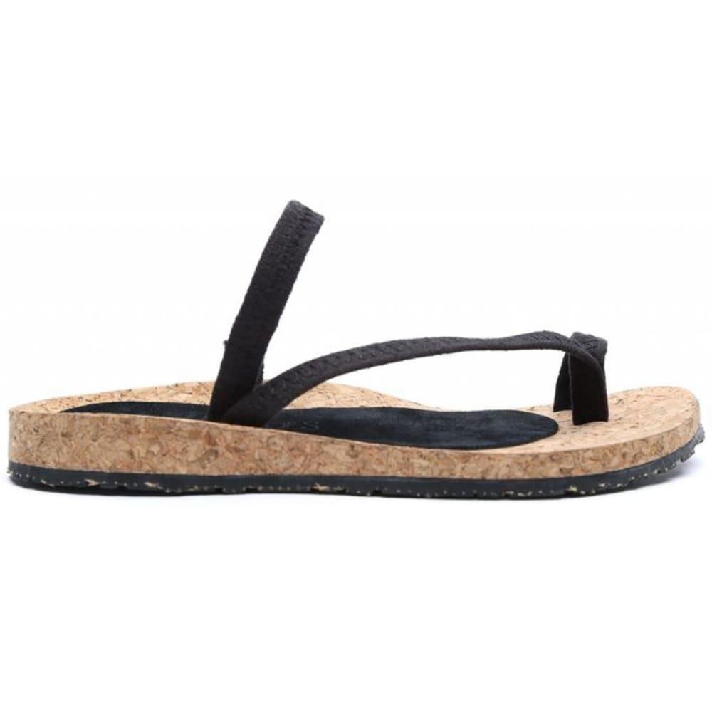 OTZ SHOES Diana Linen Sandals - BLACK-008