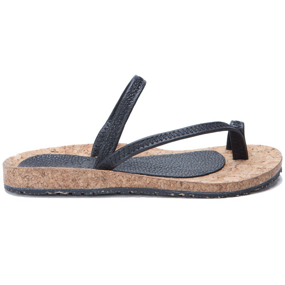 OTZ SHOES Diana Leather Sandals - BLACK-008