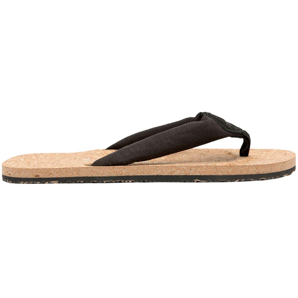 OTZ SHOES Women's Geta Linen Sandals - BLACK-008
