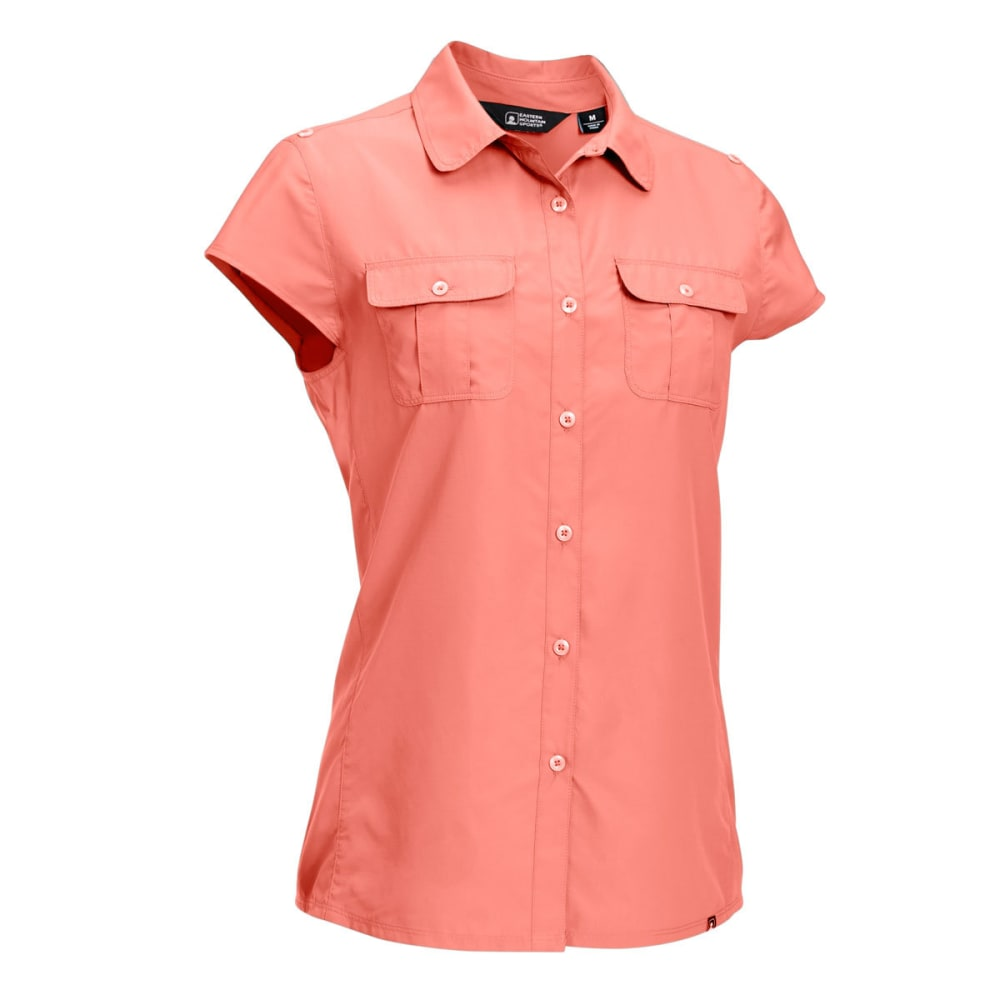 EMS Women's Compass UPF Short-Sleeve Shirt - BURNT CORAL