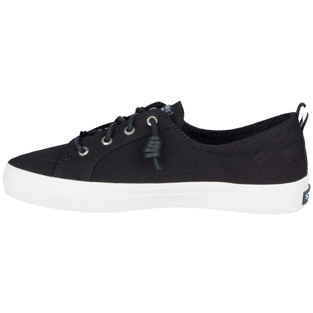 SPERRY Women's Crest Vibe Canvas Lace-Up Sneakers - BLACK
