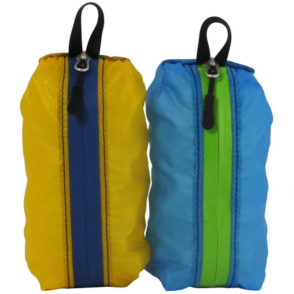 GRANITE GEAR 1L Air Zippditty, 2 Pack - YEL/BLU, BLU/GRN
