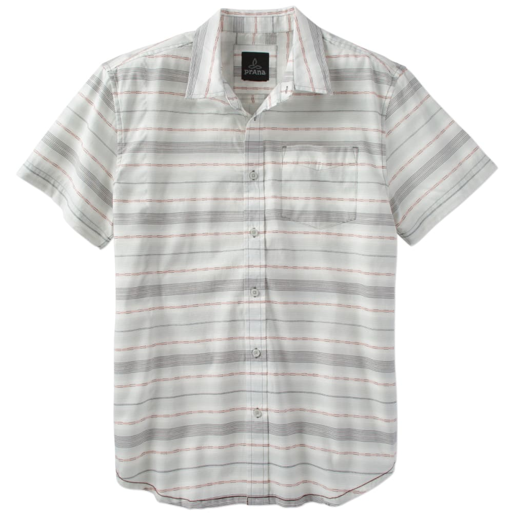 PRANA Men's Tamrack Short-Sleeve  Woven Shirt - GRA-GRAVEL
