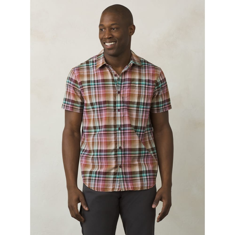 PRANA Men's Ecto Short-Sleeve Woven Shirt - GPVN-GRAPEVINE