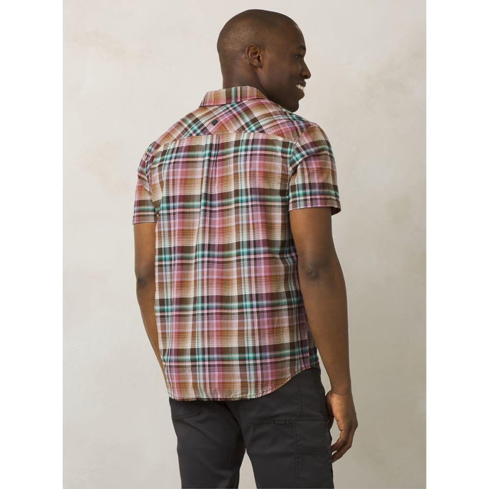 PRANA Men's Ecto Short-Sleeve Woven Shirt - GPVN-GRAPEVINE