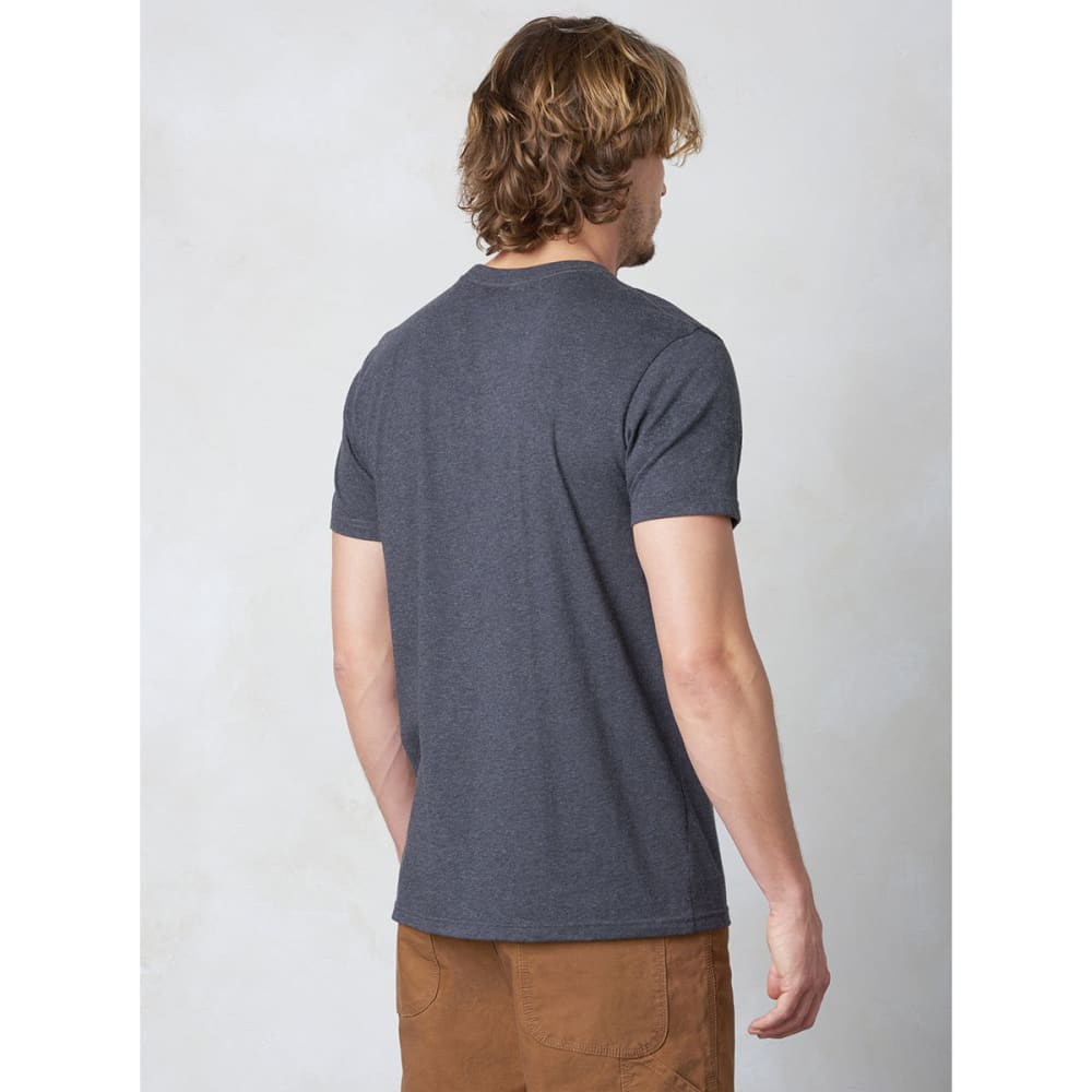 PRANA Men's Crew T-Shirt - CHR-CHARCOAL