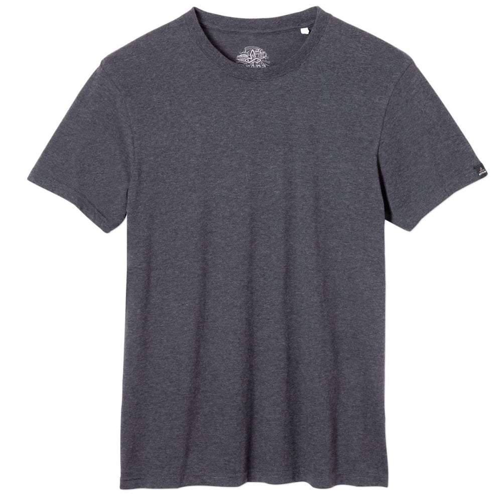 PRANA Men's Crew T-Shirt - CHR-CHARCOAL