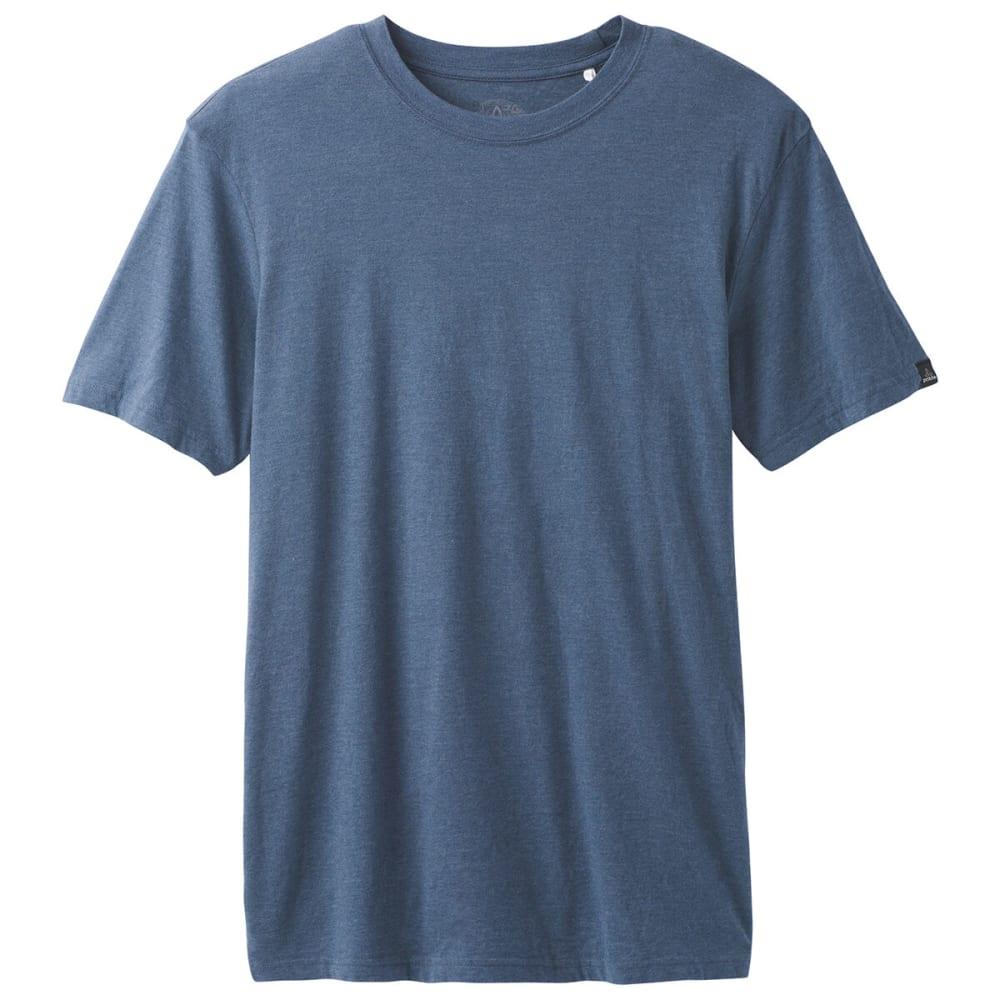 PRANA Men's Crew T-Shirt - DENIM HEATHER