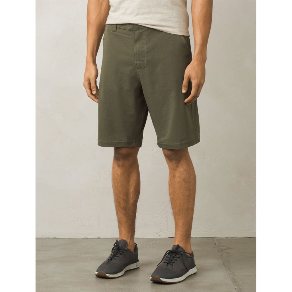 PRANA Men's Hybridizer Shorts - CAGR-CARGO GREEN