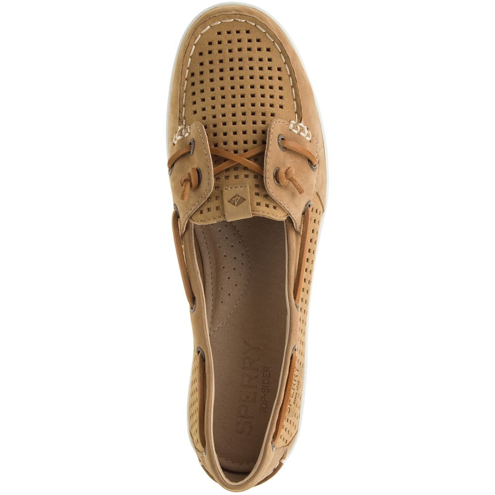 SPERRY Women's Coil Ivy Perforated Boat Shoes - TAN