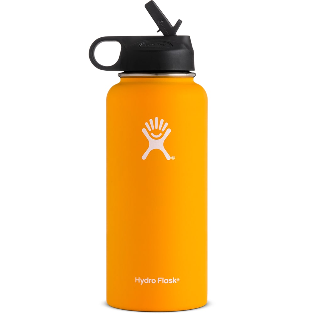 HYDRO FLASK 32 oz. Wide Mouth Bottle with Straw Lid - MANGO