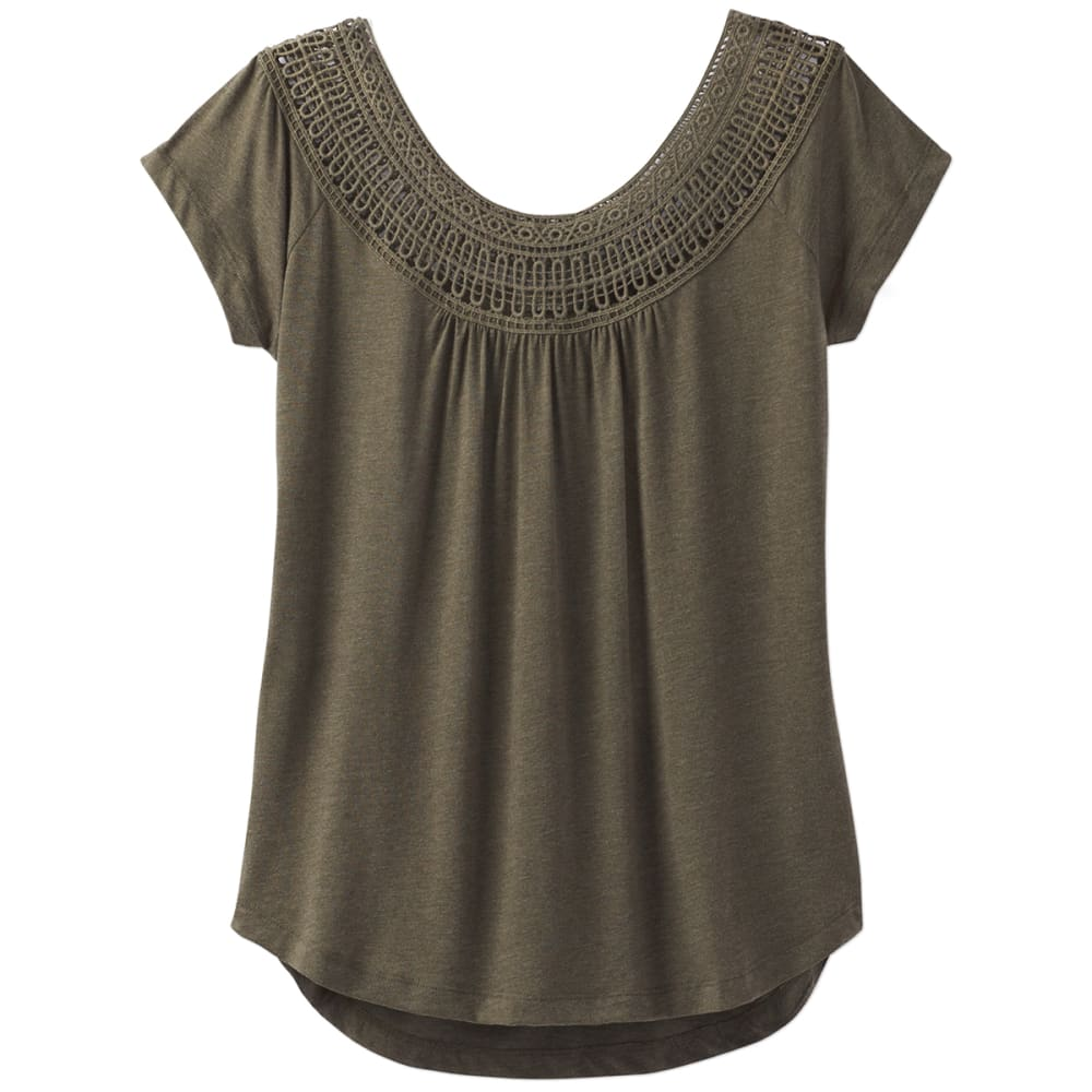 PRANA Women's Nelly Short-Sleeve Tee - CAGR-CARGO GREEN