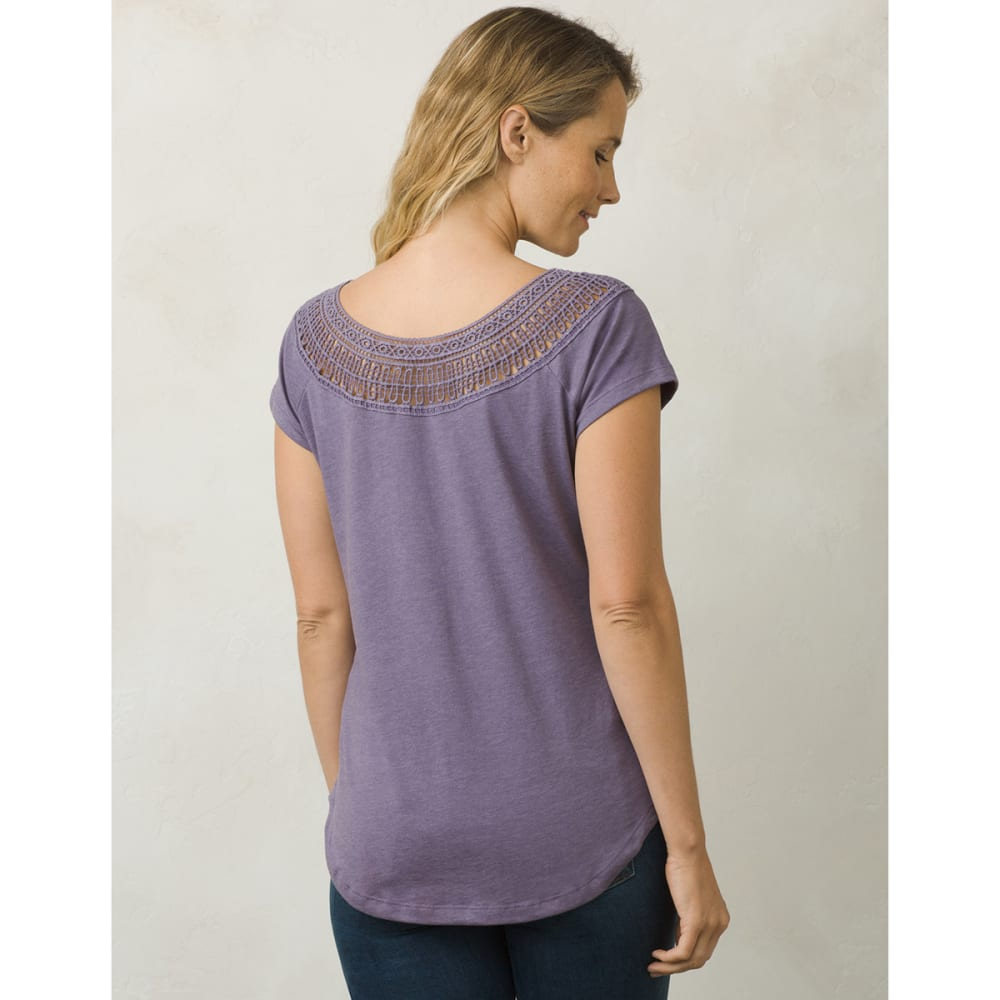 PRANA Women's Nelly Short-Sleeve Tee - PUMN-PURPLE MNTN