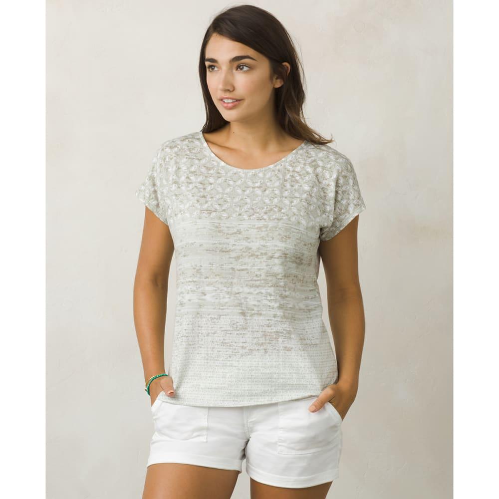 PRANA Women's Harlene Short-Sleeve Tee - COMS-COBBLESTONE