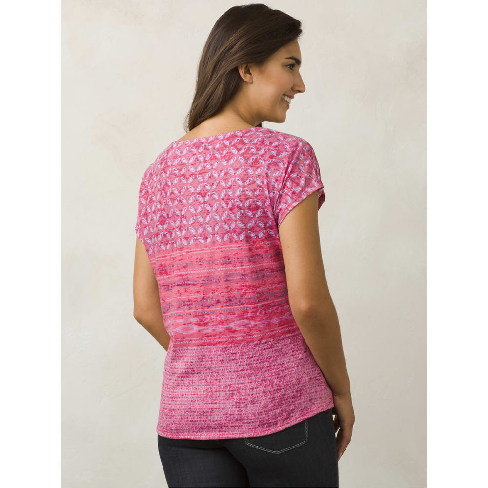 PRANA Women's Harlene Short-Sleeve Tee - CPML-COSMO PINK MILO