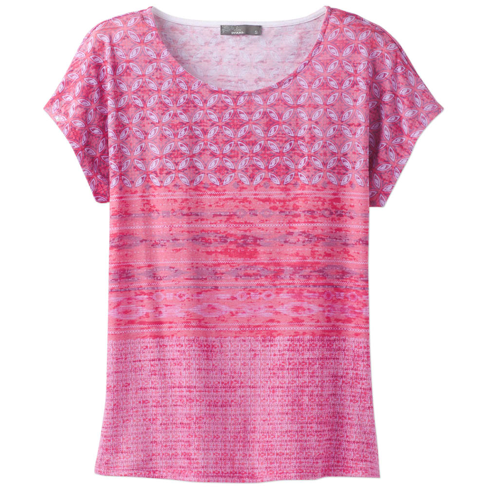 Prana Women's Harlene Short-Sleeve Tee - Red - Size XS W11170133