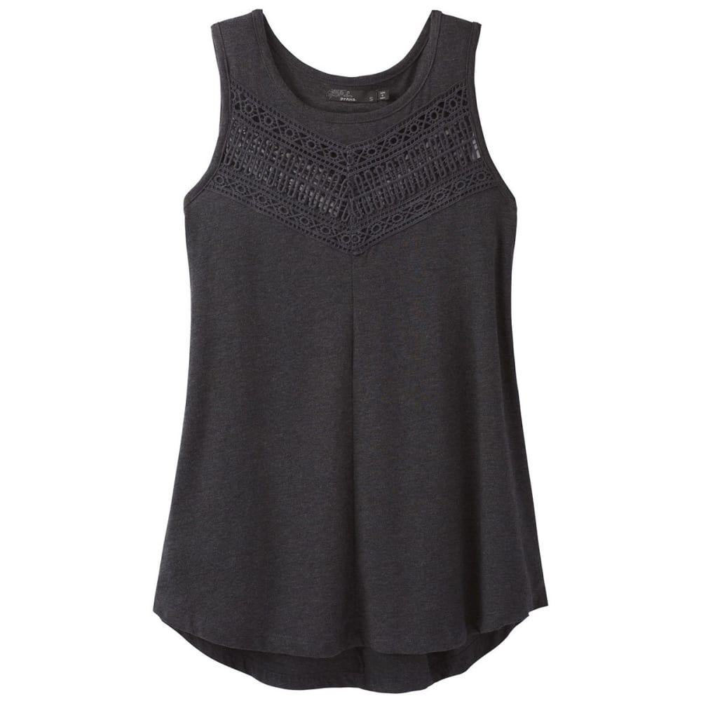 PRANA Women's Petra Swing Top - BLK-BLACK