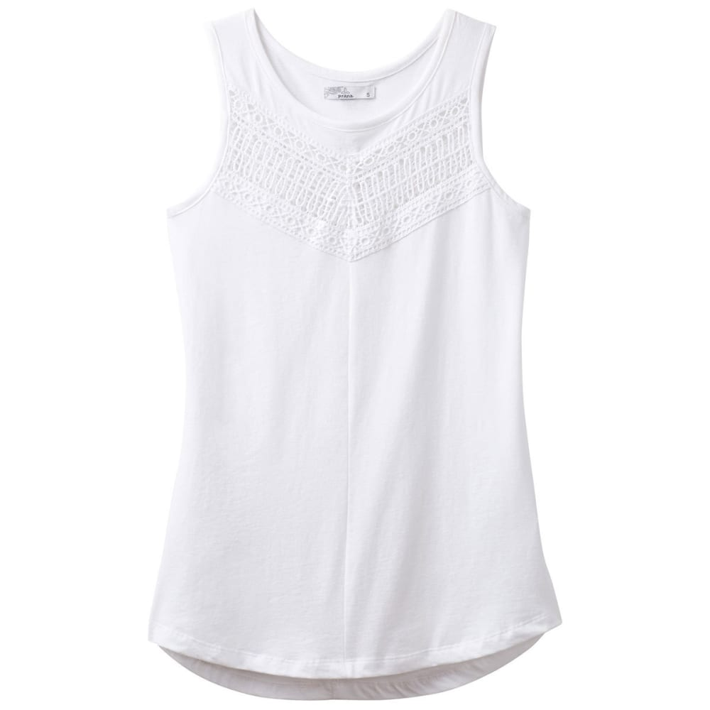 PRANA Women's Petra Swing Top - WHT-WHITE