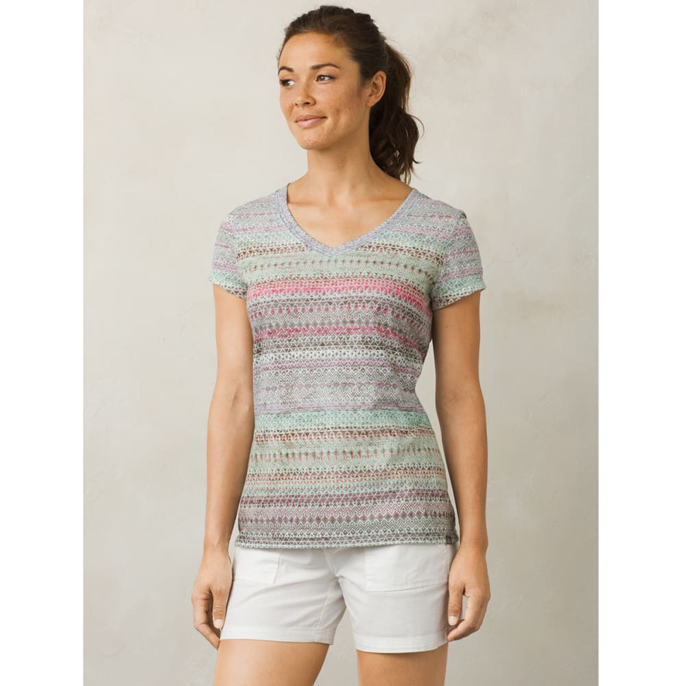 PRANA Women's Portfolio V-Neck Short-Sleeve Top - BBMY-BORA BORA MAYA
