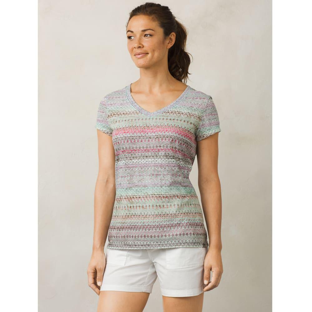 PRANA Women's Portfolio V-Neck Short-Sleeve Top - BBMY-BORA BORA MAYA