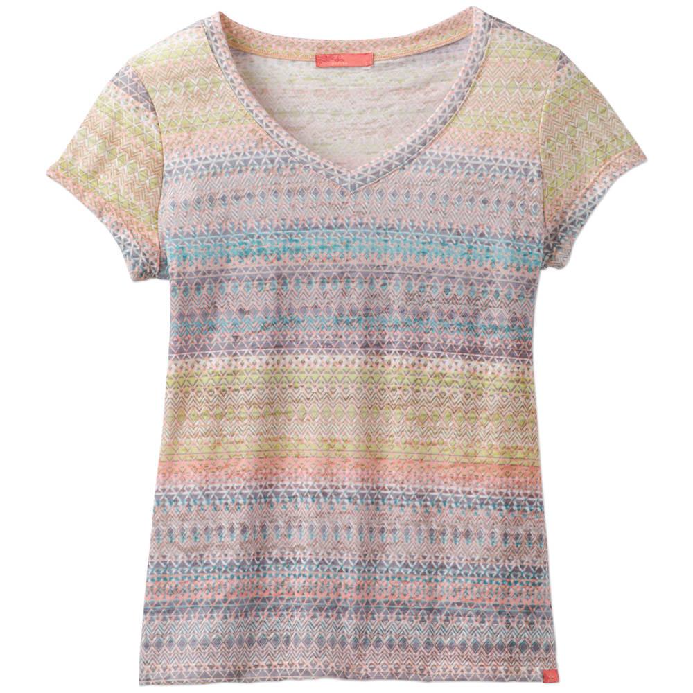 Prana Women's Portfolio V-Neck Short-Sleeve Top - Orange - Size XL W11170132