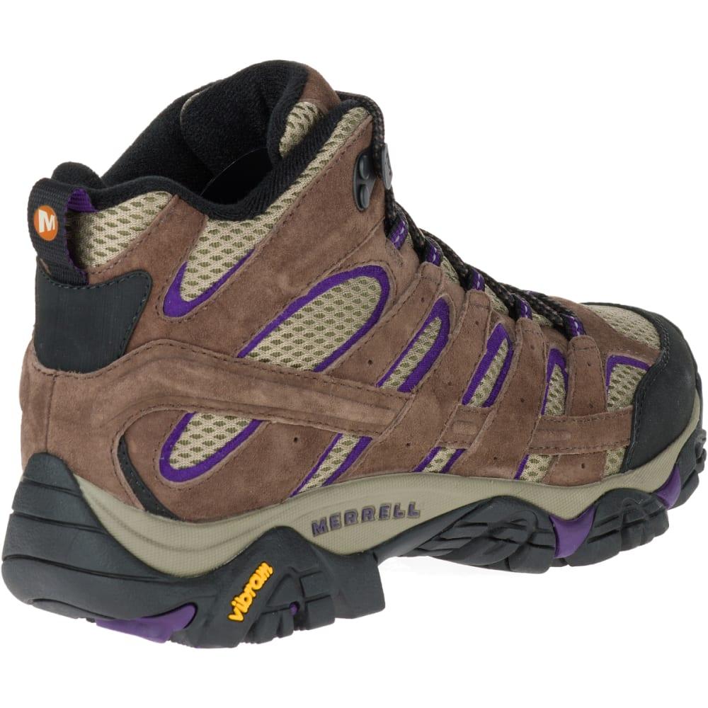 MERRELL Women's Moab 2 Vent Mid Hiking Boots, Bracken/ Purple - BRACKEN/PURPLE