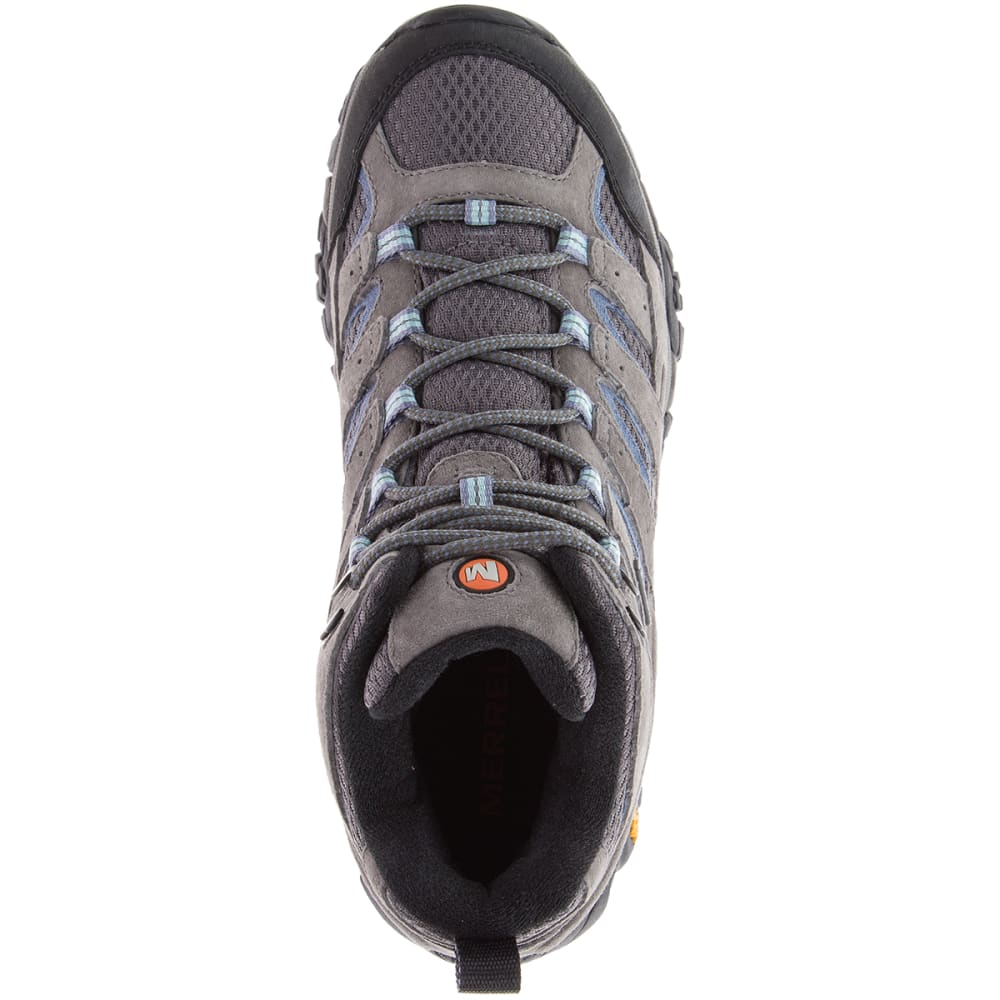 MERRELL Women's Moab 2 Mid Waterproof Hiking Boots, Granite - GRANITE