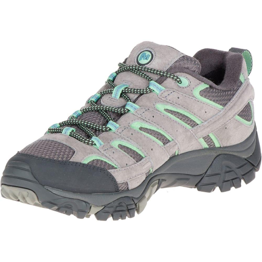 8b3045c2b2 MERRELL Women's Moab 2 Low Waterproof Hiking Shoes, Drizzle/Mint