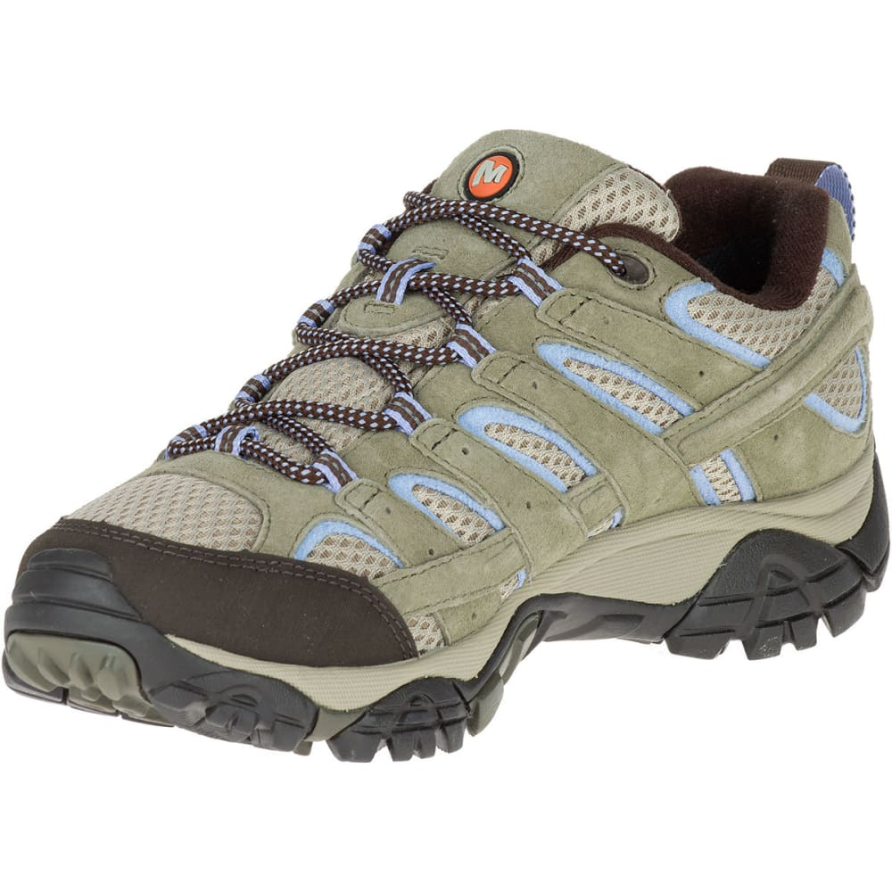 MERRELL Women's Moab 2 Low Waterproof Hiking Shoes, Dusty Olive - DUSTY OLIVE