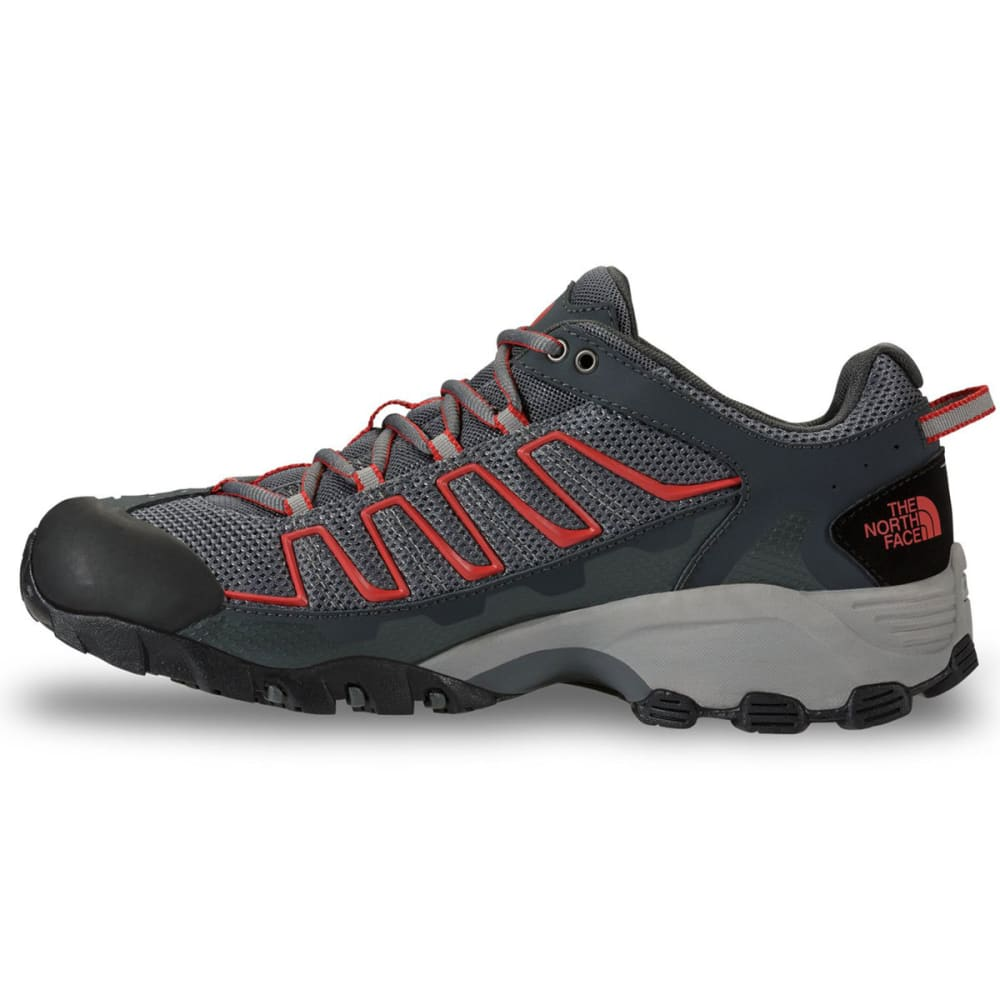 THE NORTH FACE Men's Ultra 109 Gore-Tex® Trail Running Shoes, Zinc Grey - ZINC GERY/RED