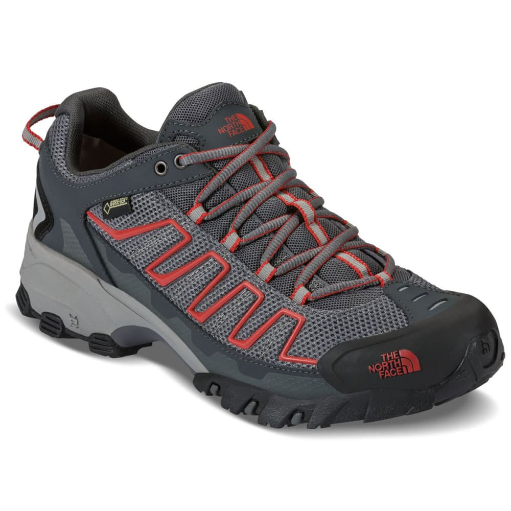 THE NORTH FACE Men's Ultra 109 Gore-Tex Trail Running Shoes, Zinc Grey - ZINC GERY/RED