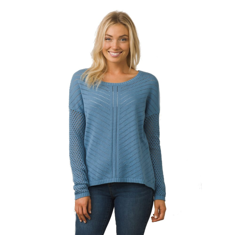 PRANA Women's Parker Sweater - DSSK-DUSTY SKIES