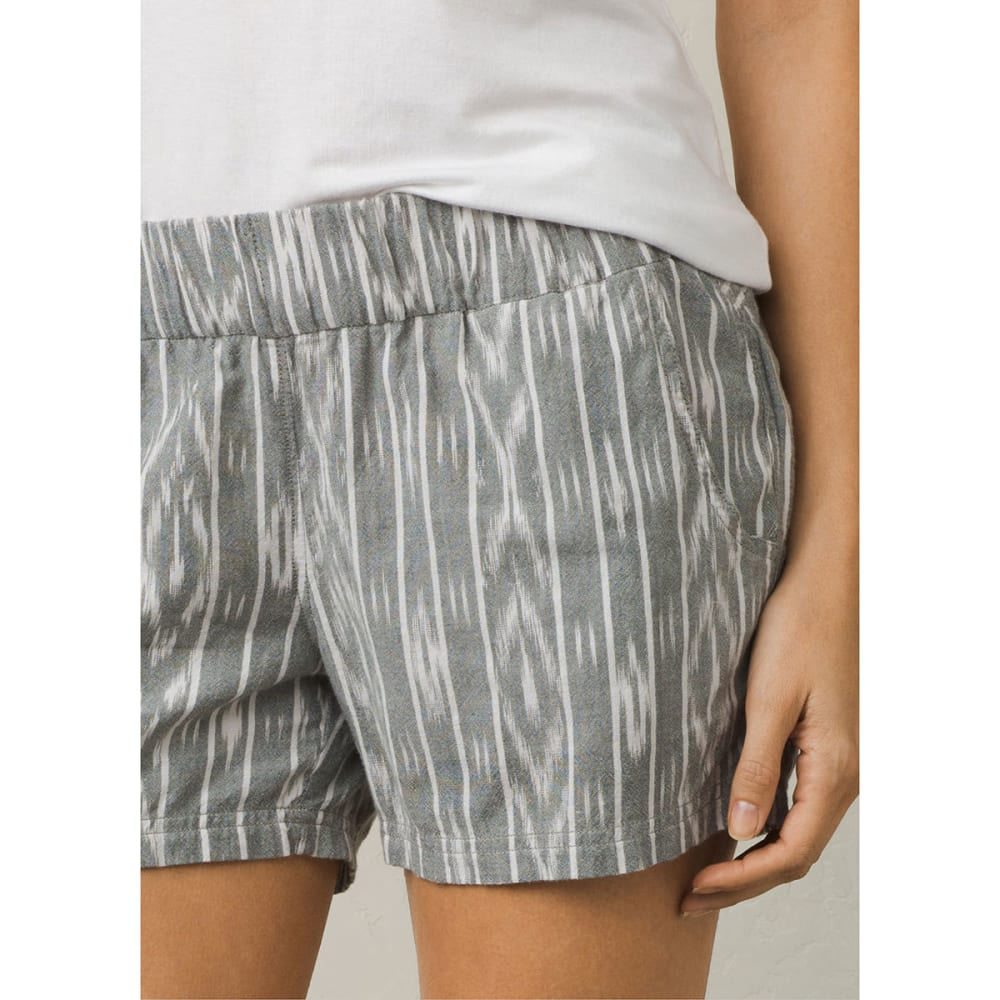 Prana Women's Reba Woven Short - GRA-GRAVEL